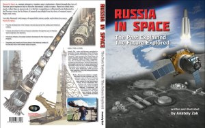 Front anche back cover of Russia in space: The past explained, the future explored (Credits: Anatoly Zak).