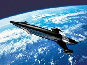 Artist's impression of SKYLON in orbit (Credit: Reaction Engines Ltd).