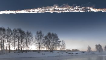Shortly after 0900 local time, on a crisp February day in Chelyabinsk, Russia, Marat Ahmetvaleev went to one of his favorite spots to catch some photographs of the rising sun. Instead, he captured this streak of fire, smoke, and stone. At maximum brightness, the burning 17m rock travelled at 18.6km/s. ©Marat Ahmetvaleev http://marateaman.livejournal.com/