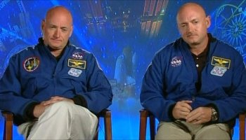 Astronauts Mark and Scott Kelly will be working together again when Mark serves as his brother's control during a a one year mission on ISS.