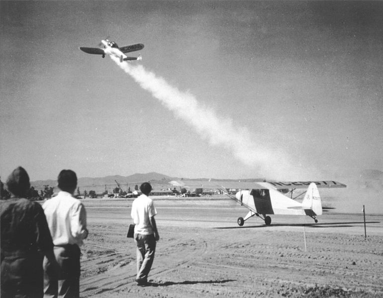 First flight of the JATO (Credits: NASA).