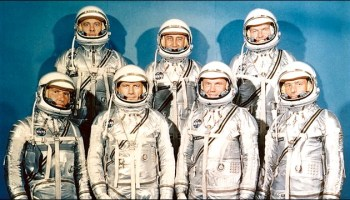 """The men with """"The Right Stuff"""" – and the famous book about them with the same name – go under the microscope in the Smithsonian Institution Scholarly Press' new offering. Photo Credit: NASA."""