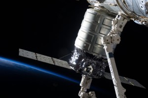 NASA's COTS program has seen two additional, private-public spacecraft travel to the ISS. Both Orbital's Cygnus (seen here) and SpaceX's Dragon spacecraft have traveled to the ISS (Credits: NASA).