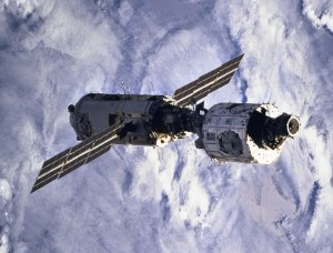 Zarya and UNity, the first two modules of the International Space Station (Credits: NASA).