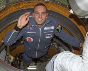Mark Shuttleworth aboard the International Space Station (Credits: NASA).