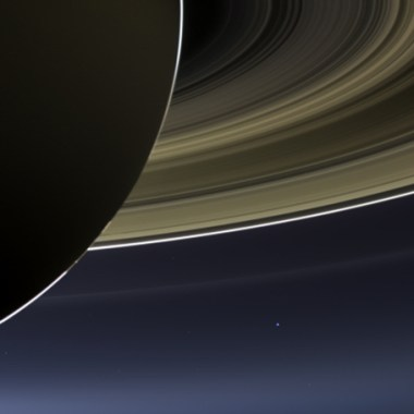 Earth viewed by Cassini from Saturn July 19, 2013 (Credits: NASA).