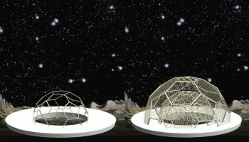Fig. 8 Domes from small cable-stayed cells with nets by Sergey Makarov