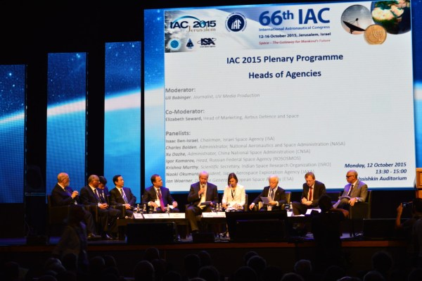 IAC 2015 panel with heads of space agencies credits: Merryl Azriel