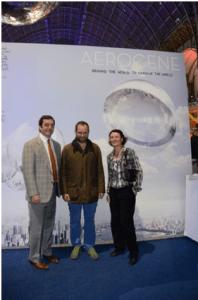 Michael Kezirian, Tomás Saraceno. and Isabelle Rongier. credits: Rongier