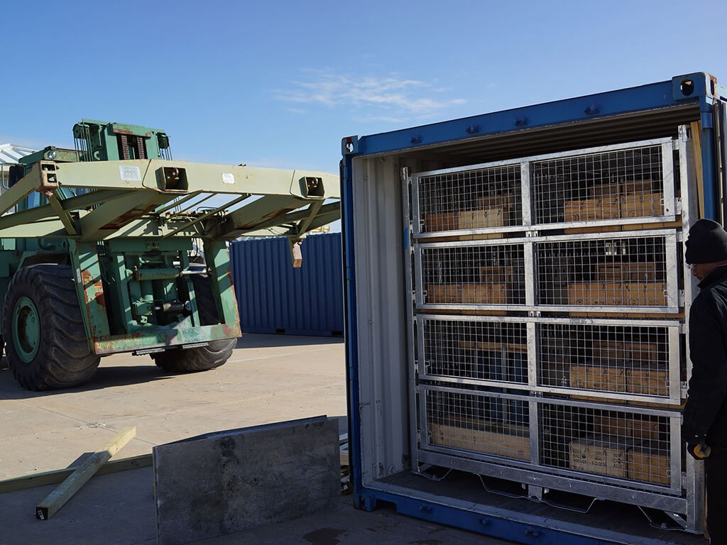 Helicopter Shipping Transporting Container