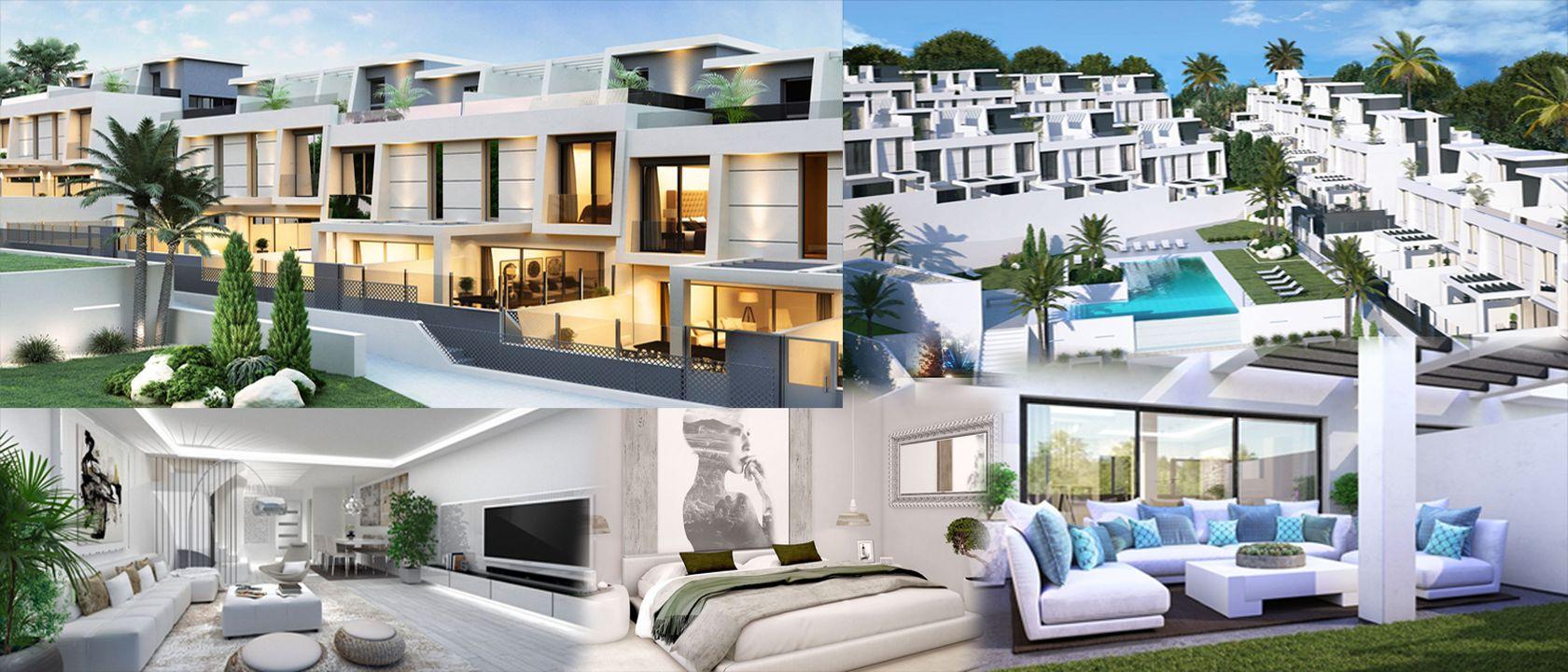 Urbanización Oasis Añoreta – diseño de jardines  y fachada