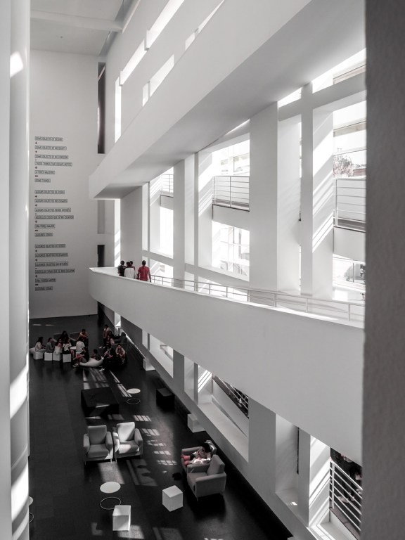 MACBA, museum contemporary art in Barcelona, Spain designed by the american architect Richard Meier