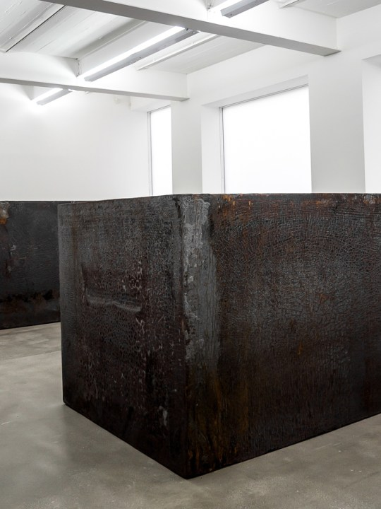 Richard Serra exhibition at Gagosian Gallery in London, UK