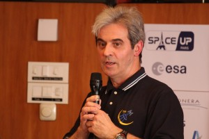 French astronaut Léopold Eyharts at SpaceUp Paris