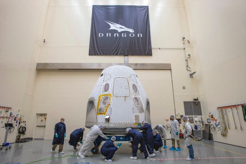 SpaceX Crew Dragon Arrives at Kennedy for Demo-2 Crew Mission to ISS