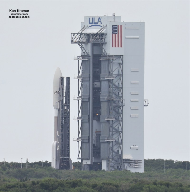 ULA Atlas V Rocket Rolls Out to Launch Complex 41 with NASA's Red Planet Rover Perseverance
