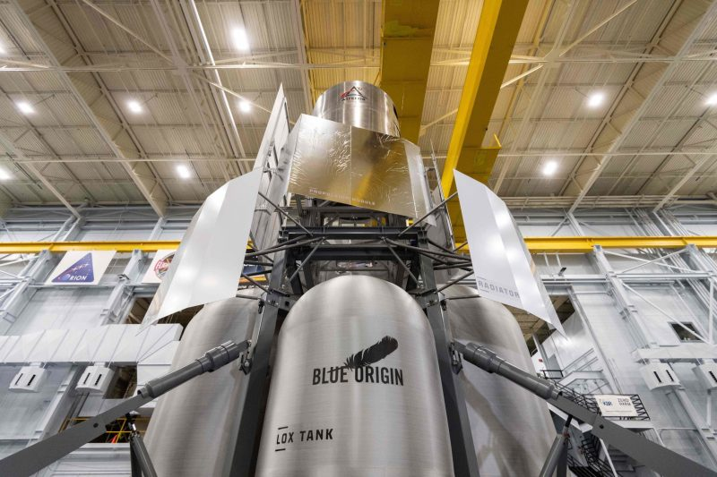 Blue Origin National Team Delivers Human Lunar Lander Mockup to NASA