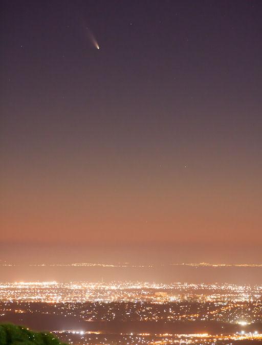 kometa PanStarrs sfotografowana w Australii