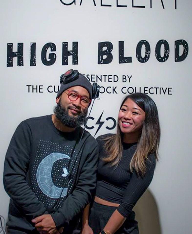 Silong Chhun and Clarissa Gines enjoyed opening night of High Blood. Photo by Kris Crews.