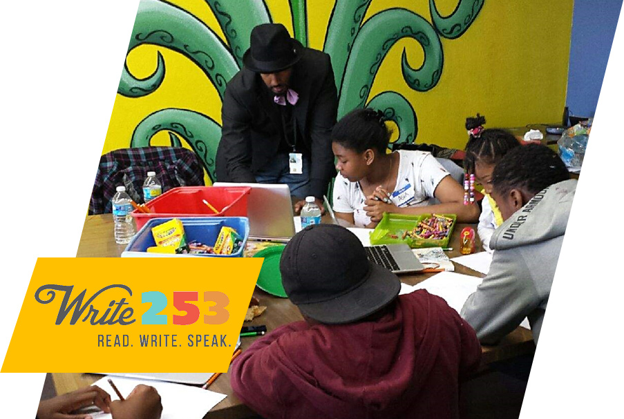 Tacoma non-profit offers creative writing workshops and summer camps to provide educational experiences and academic assistance to youth who experience poverty.