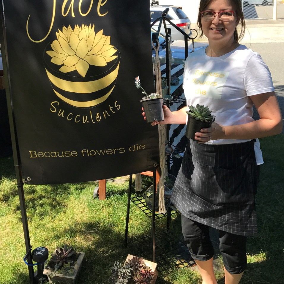 Succulent artist Jennie Serrano celebrates grand opening of her new store with workshops and plant retail - Jade & Co.