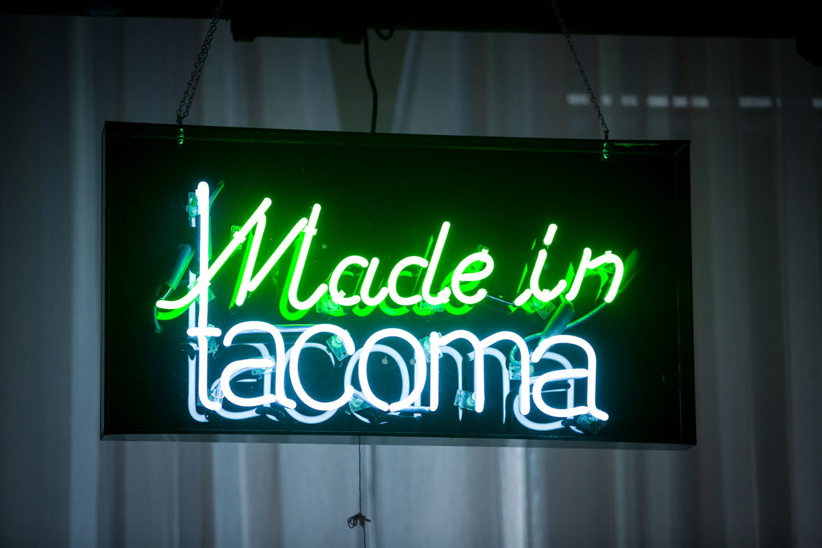 """""""Made in Tacoma"""" neon sign by Galen Turner"""