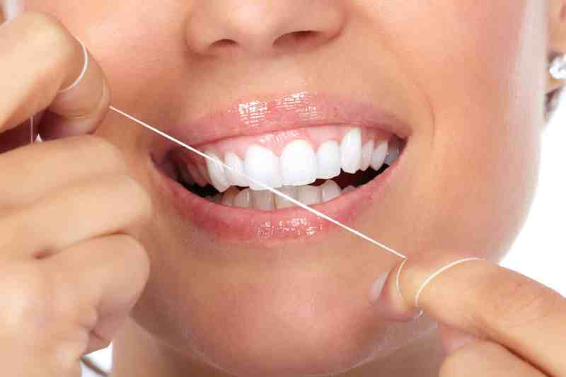 after using like this woman shows throw away dental floss