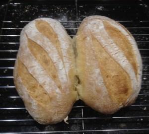 potato sourdough baked