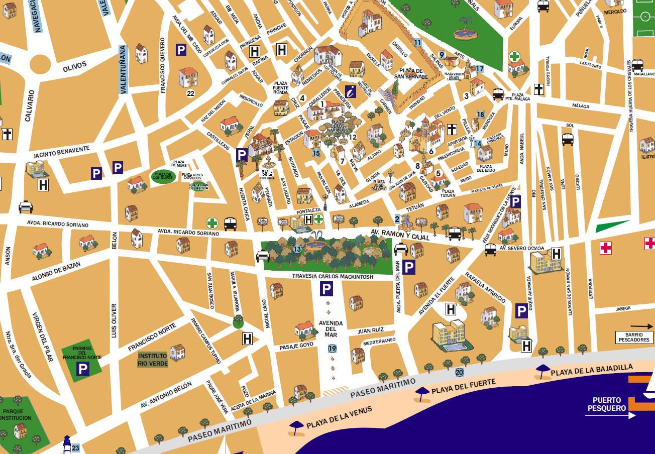 Mappa Marbella  Cartina di marbella