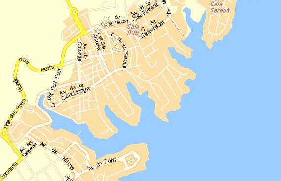 Mappa Cala dOr  Cartina di Cala dOr  Pianta Cala dOr