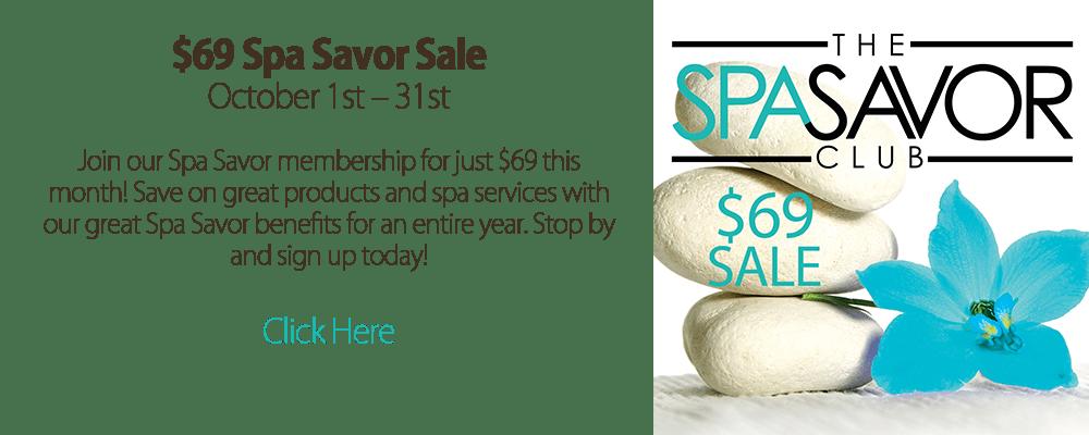 Spa Savor Sale