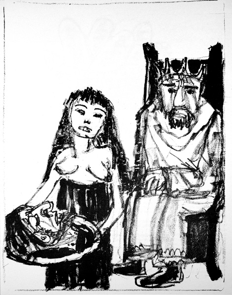 Herod, Salome and head of St. John