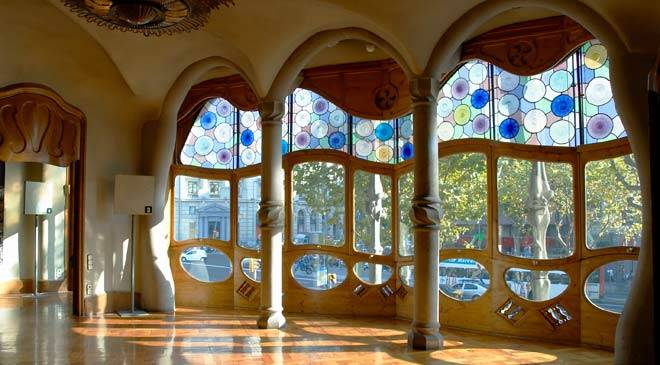 Casa Batll House monuments in Barcelona at Spain is culture
