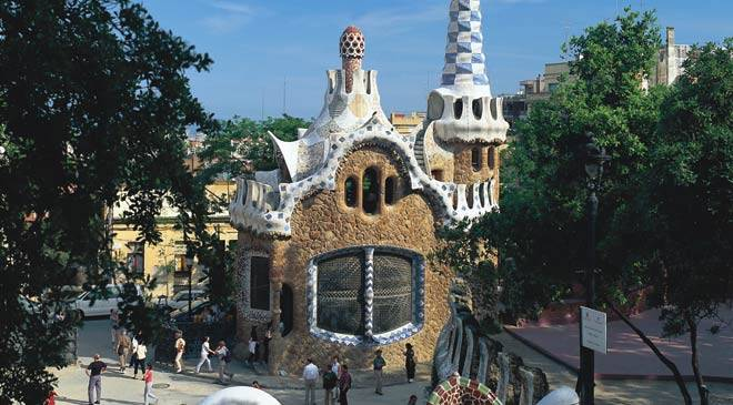 Works by Antoni Gaud monuments in Barcelona at Spain is culture
