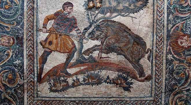 The Boar Hunt mosaic National Museum of Roman Art Mrida