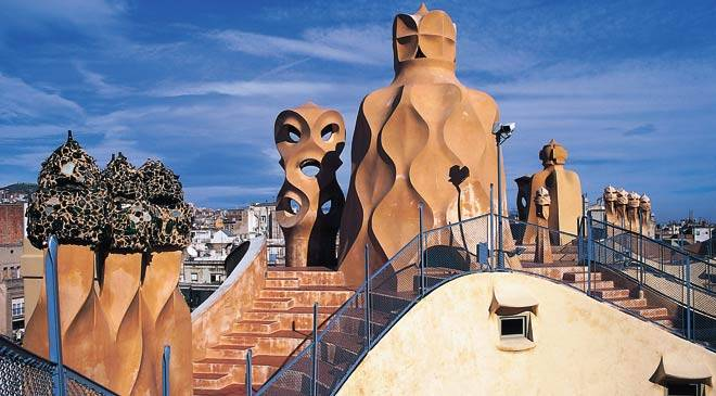 Gaud route in Barcelona cultural routes at Spain is culture