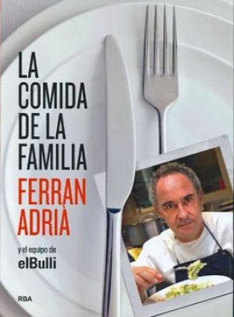 エルブジの天才シェフ フェッラン・アドリア氏の著書-LA COMIDA DE LAFAMILIA¨の表紙。スペイン料理の基本が学べます。