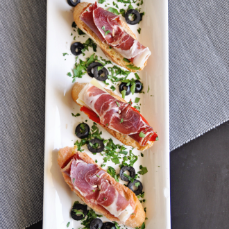Open Faced Jamon Iberico Sandwiches
