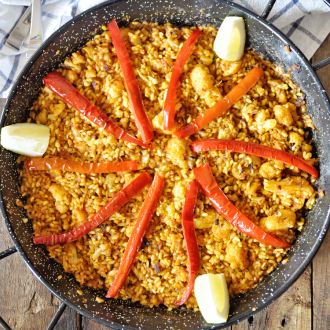 Paella with Cauliflower and Cod
