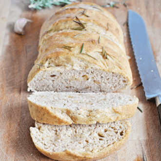 Roasted Garlic and Rosemary Bread