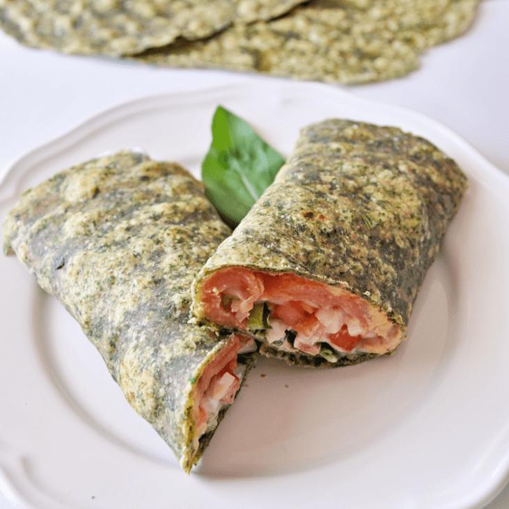 Homemade Mediterranean Spinach Wraps