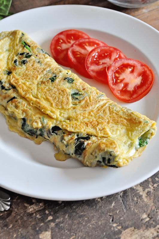 Spinach & Cheese Omelette | Easy Breakfast Recipe | Spain ...