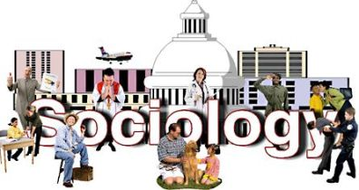An image of 'Sociology' with images of people of various occupations