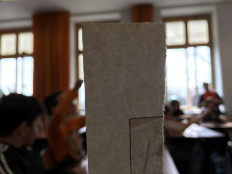 Workshop der MA48: Papierschöpfen
