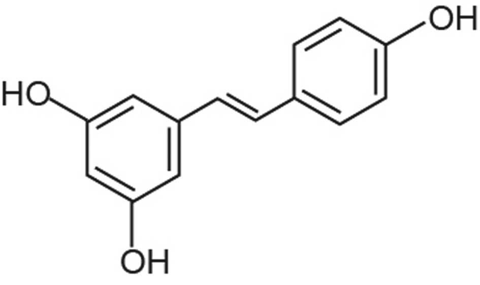 Resveratrol inhibits proliferation in human colorectal