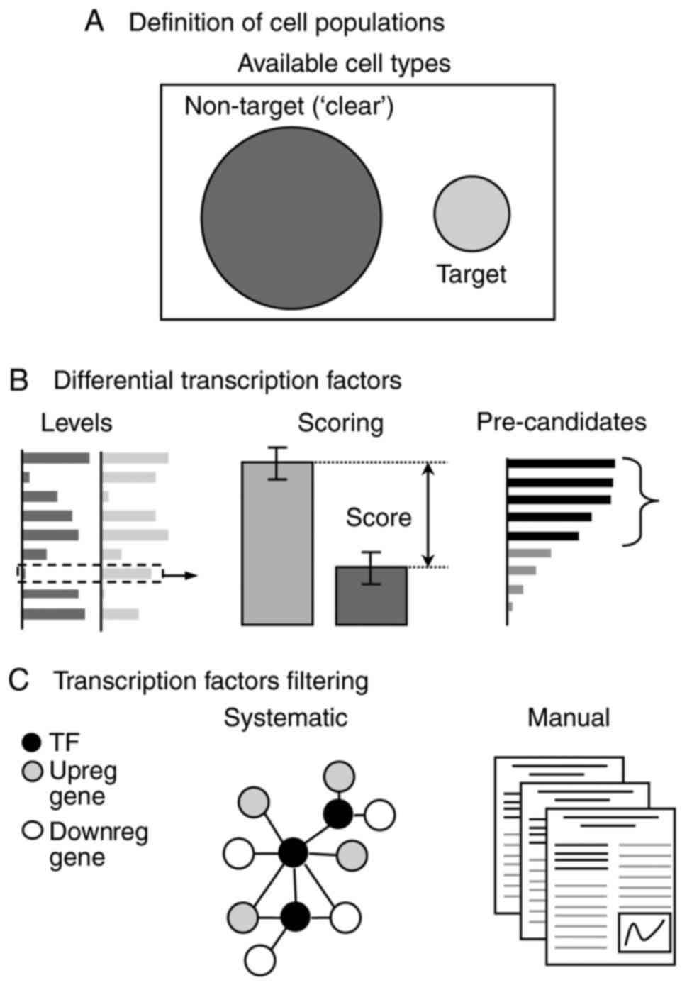 Computational approaches for predicting key transcription