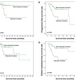 kaplan meier plots of a overall survival b progression free survival c local relapse free survival and d distant metastasis free survival in stage  [ 2126 x 1491 Pixel ]