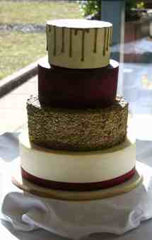 Burgundy Gold And Silver Wedding Cakes Year Of Clean Water