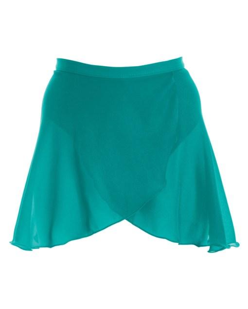 Mock Wrap Skirt-Vibrant Green