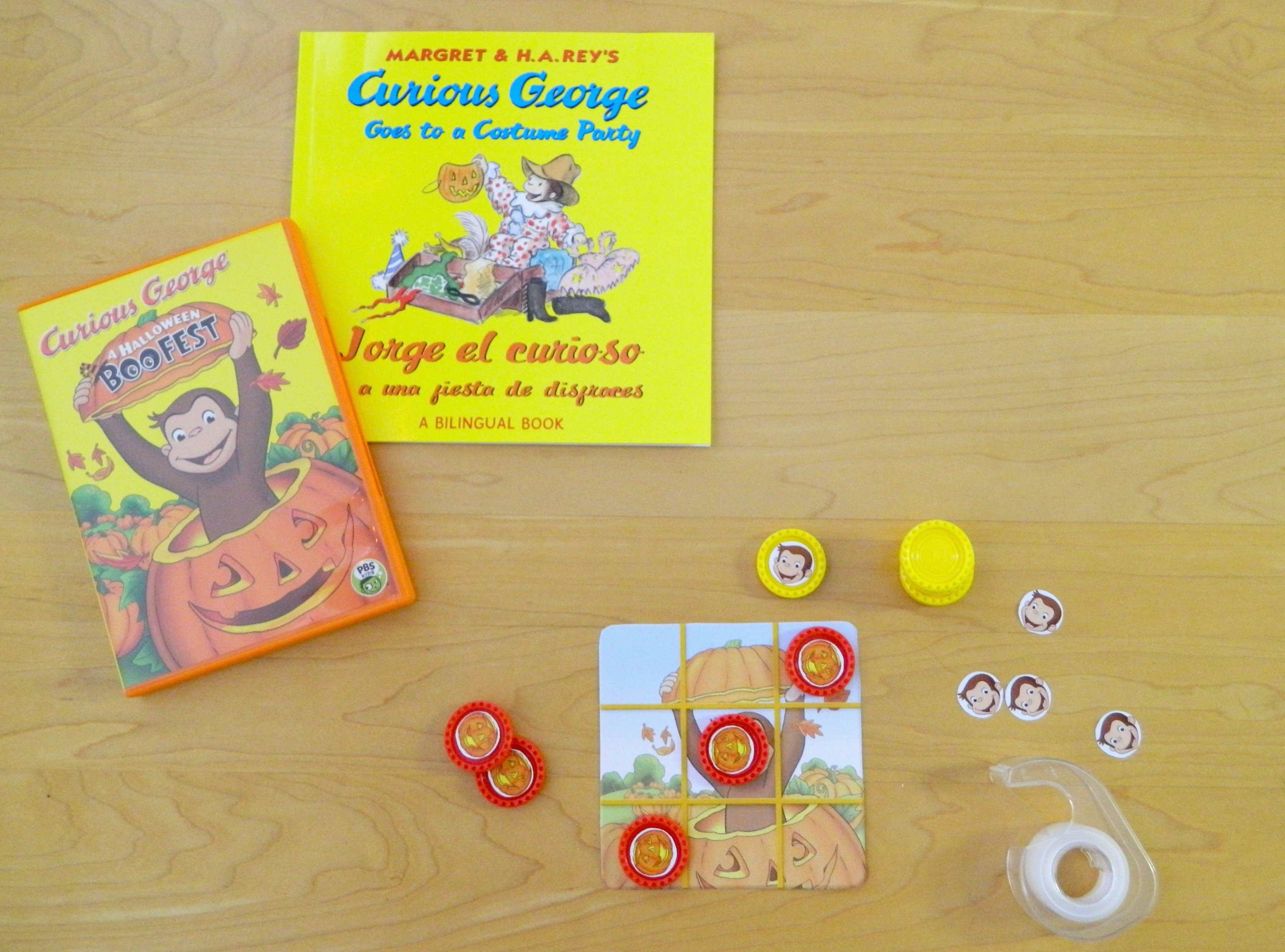also launching in tandem with the premiere is a fun online game a tic tac toe printable game and a curious george mask printable available in english and